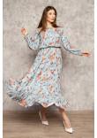 Сукня «Віннон» блакитного кольору з принтом