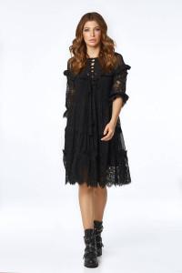 Сукня «Давур» чорного кольору