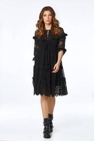Платье «Давур» черного цвета