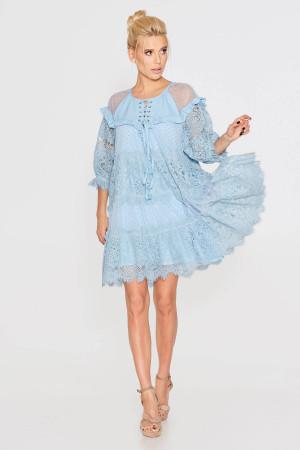 Платье «Давур» голубого цвета