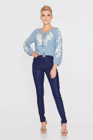 Блуза «Івія» блакитного кольору