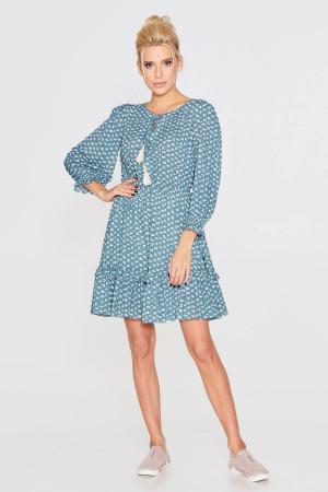 Платье «Лура» бирюзового цвета