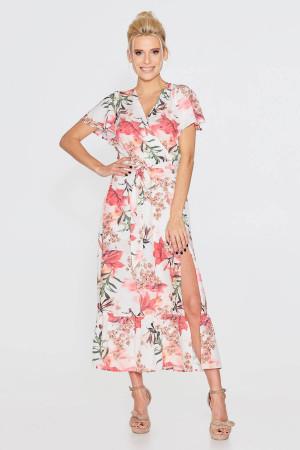 Сукня «Пія» молочного кольору з квітковим принтом