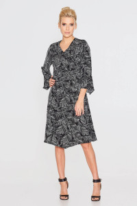 Сукня «Нео» чорного кольору з принтом