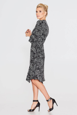 Платье «Нео» черного цвета с принтом
