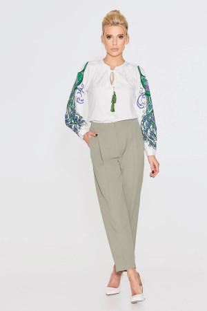 Блуза «Павлин» молочного цвета