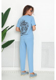 Спортивний костюм «Дафна» блакитного кольору