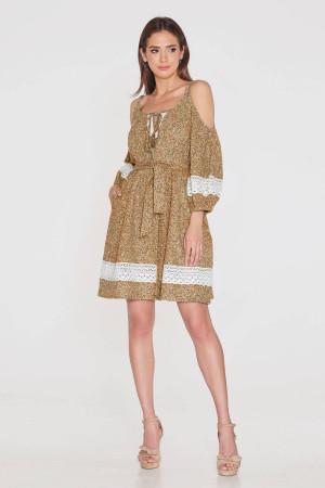 Платье «Мари» теракотового цвета