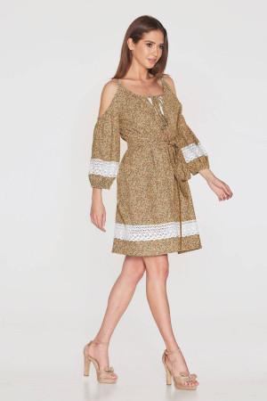 Платье «Мари» терракотового цвета