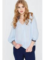 Блуза «Гафійка» блакитного кольору