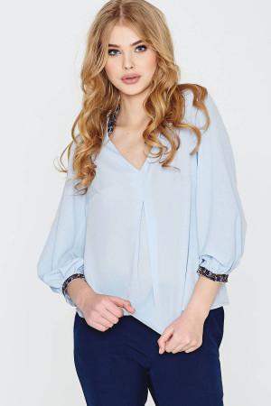 Блуза «Гафийка» голубого цвета