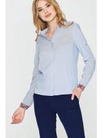 Блуза «Либідь» блакитного кольору