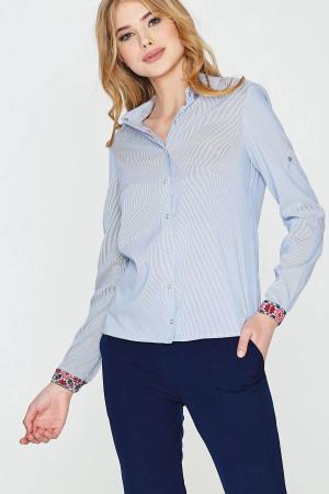 Блуза «Лыбидь» голубого цвета