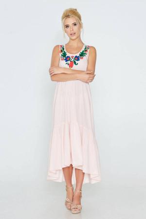 Платье «Рогнида» розового цвета