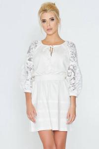 Платье «Катря» молочного цвета
