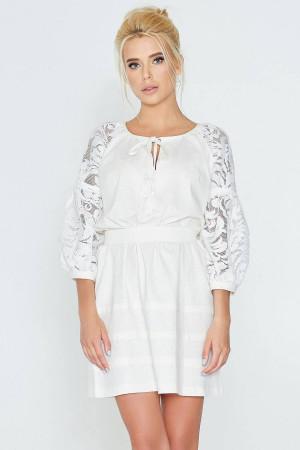 Сукня «Катря» молочного кольору