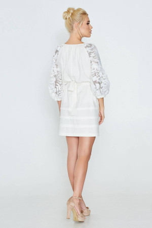 Платье «Катря» белого цвета