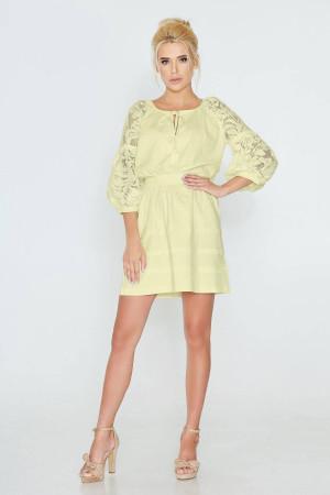 Платье «Катря» желтого цвета