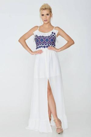 Сарафан «Оливия» белого цвета