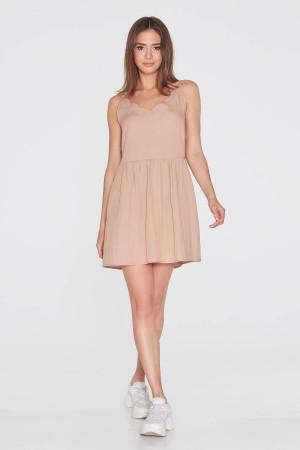 Платье «Карла» бежевого цвета