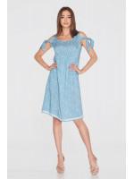 Платье «Аленка» голубого цвета