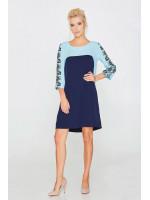 Сукня «Вензелі» блакитного кольору