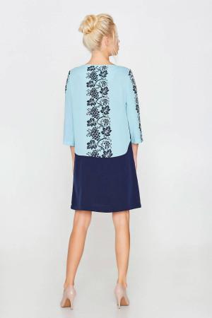Платье «Вензели» голубого цвета