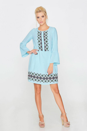 Платье «Тамара» голубого цвета