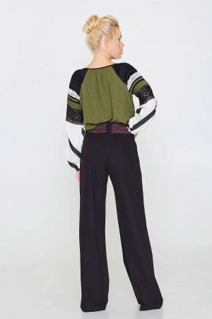 Блуза «Глорія» оливкового кольору