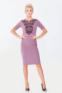 Платье «Элла» лилового цвета