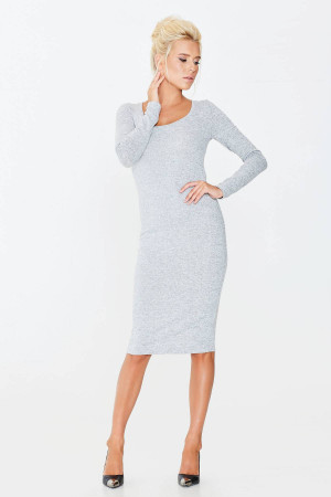 Платье «Кайса» серого цвета