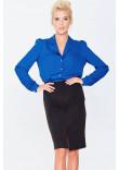 Блуза «Драгомира» синего цвета