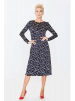 Платье «Виталия» темно-синего цвета