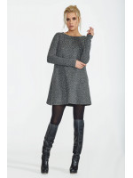 Платье «Ансити» цвета серый меланж