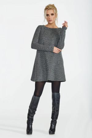 Сукня «Ансіті» кольору сірий меланж