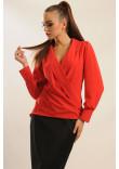 Блуза «Жанін» червоного кольору