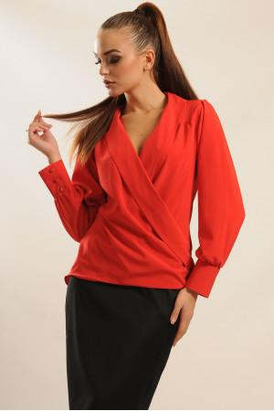 Блуза «Жанин» красного цвета