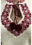 В'язана вишиванка «Настуся» з червоно-чорним орнаментом