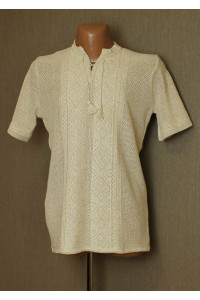 Вязаная вышиванка «Назар» с коротким рукавом