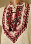 В'язана вишиванка «Полуботок» з коротким рукавом