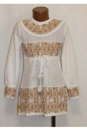 Вязаное платье для девочки «Славянка»