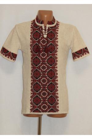 В'язана вишиванка «Арсен» з коротким рукавом