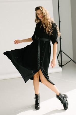 Платье «Бертрис» черного цвета