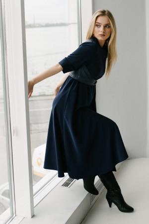 Платье «Бертрис» синего цвета