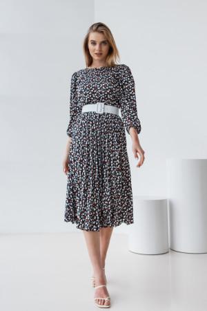 Платье «Диди» черного цвета с цветами