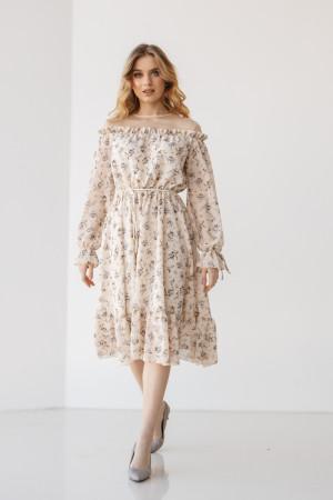 Платье «Ленни» молочного цвета