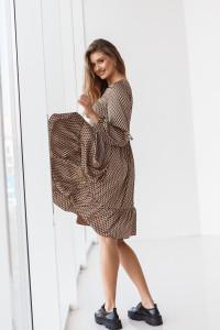 Платье «Тинтин» коричневого цвета