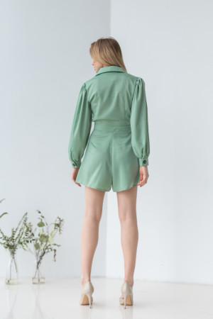 Сукня-комбінезон «Вайнона» оливкового кольору