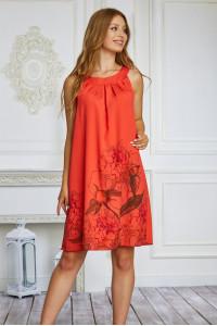Платье «Витара» кораллового цвета