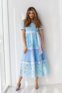 Платье «Ларин» голубого цвета